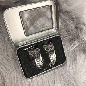 wonmille bracelet for apple watch flower silver